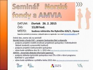 Pozvánka na seminář k Norským fondům