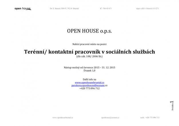 OPEN HOUSE o.p.s. Vbrov zen PSS
